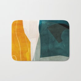 mid century shapes abstract painting 3 Bath Mat