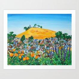 Wildflowers View of Bernal Hill Art Print