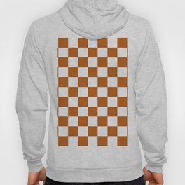 Checker Texture  (Bronze & White) Hoody