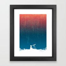 Meteor Rain (light version) Framed Art Print