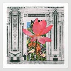 The magical Lotus flower Art Print