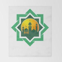 Symbol of Muslim Throw Blanket