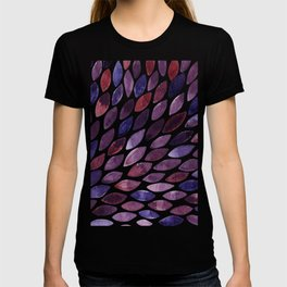 Watercolor brush strokes burst - purple autumn palette T-shirt