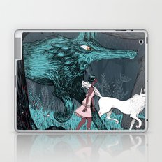 Woman Wolf wandering Laptop & iPad Skin