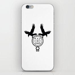 Norse Ravens - Vegvisir iPhone Skin