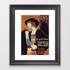 Le Fourth Doctor Framed Art Print