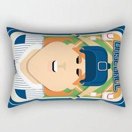 Baseball Blue Pinstripes - Deuce Crackerjack - Jacqui version Rectangular Pillow