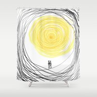you are my sunshine Shower Curtains featuring You are My Sunshine by RokinRonda