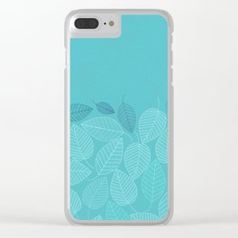 LEAVES ENSEMBLE TURQUOISE Clear iPhone Case