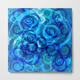 Blue Swirls #2 Metal Print