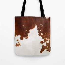 brown cowhide watercolor Tote Bag