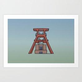 Zollverein Coal Mine Industrial Complex in Essen Art Print