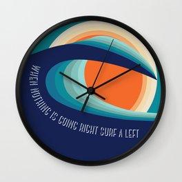 Surf a left Wall Clock