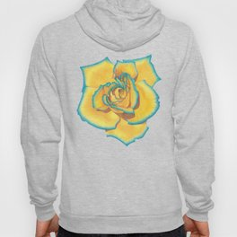 Yellow and Turquoise Rose Hoody