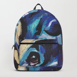 Fun ENGLISH MASTIFF Dog bright colorful Pop Art Painting by LEA Backpack
