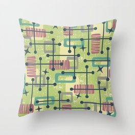 Mid Century Modern Abstract Pattern 832 Throw Pillow
