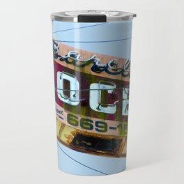 COOL VINTAGE GROCERY SIGN Travel Mug