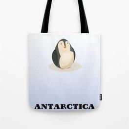 Antarctica Penguin Travel poster, Tote Bag