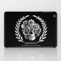 ohm iPad Cases featuring Screwed and tattooed Ohm Skull by Kristy Patterson Design