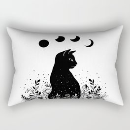 Night Garden Cat Rectangular Pillow