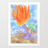 Fire Faerie Art Print