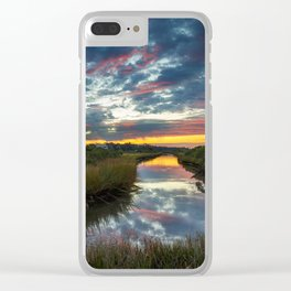 Mississippi Coastal Sunrise Clear iPhone Case