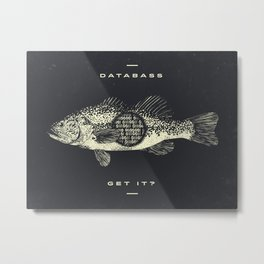 DATABASS Metal Print