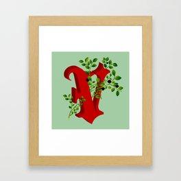 Letter 'V' is for Vaccinium Framed Art Print