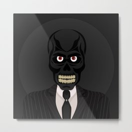 Black Mask Metal Print