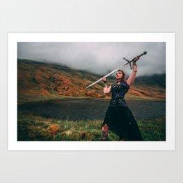Shield-Maiden & Claymore Art Print