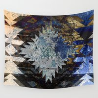 southwest Wall Tapestries featuring Frosted Southwest by North 10 Creations