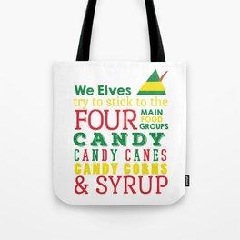 Elves food Groups - Elf the movie Tote Bag