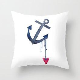 Anchored Heart Throw Pillow