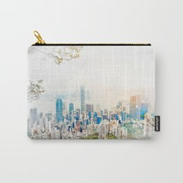 modern city skyline aerial view under sunrise and blue sky in Hong Kong, China Carry-All Pouch
