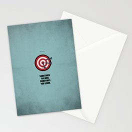 Lab No.4 -Sometimes you win, sometimes you learn Quotes poster Stationery Cards