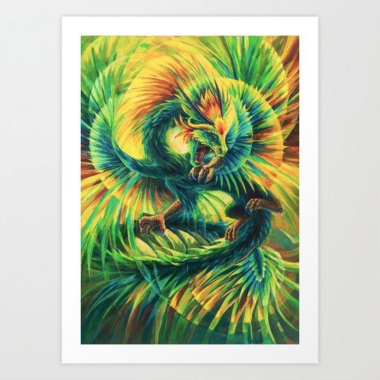 Plumed Serpent Art Print