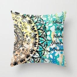 Flower Mandala Pattern Throw Pillow