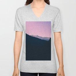 Pastel Mountains Unisex V-Neck