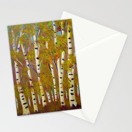 Birch trees-3 Stationery Cards