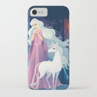 the last unicorn iPhone & iPod Cases featuring The Last Unicorn by Tami Wicinas