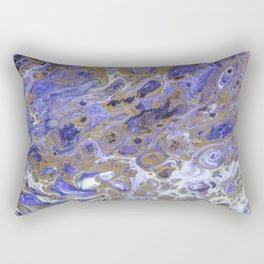 Purple Rain, pouring abstract acrylic Rectangular Pillow