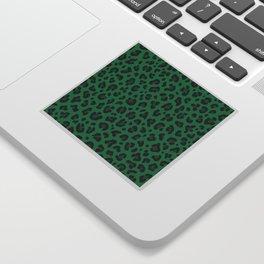 LEOPARD PRINT in GREEN | Collection : Leopard spots – Punk Rock Animal Print Sticker