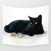 luna Wall Tapestries featuring Luna by artbyteesa