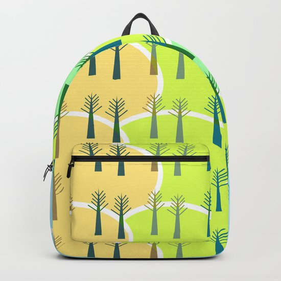 Trees and colorful clouds Backpack