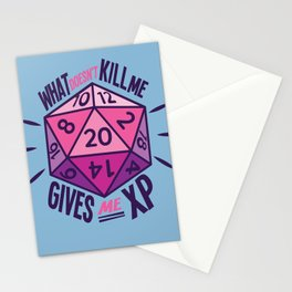 Role Playing What Doesn't Kill Me Gives Me XP Stationery Cards