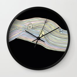 Line Faces Sixteen Wall Clock