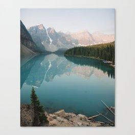 Pastel Sunrise over Moraine Lake Canvas Print