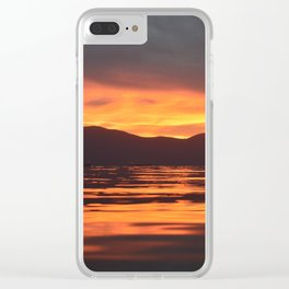 Spinal Sunset Clear iPhone Case