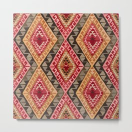 Sunset Kilim Metal Print