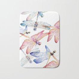 Dragonfly Pack Pink and Blue Bath Mat